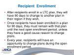 recipient enrollment