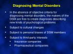 diagnosing mental disorders5