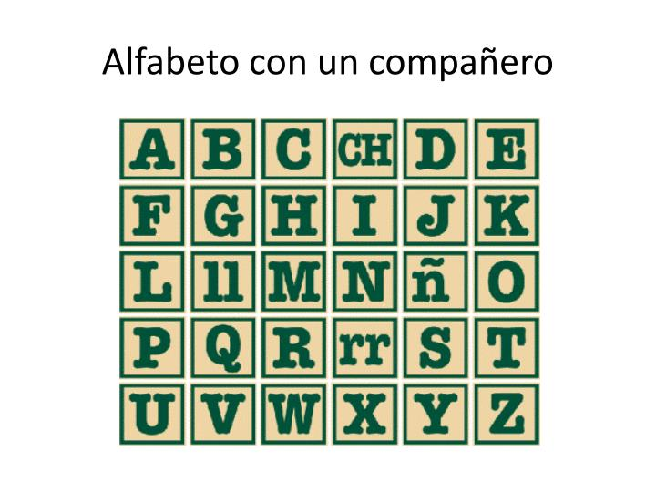 Alfabeto con un compañero