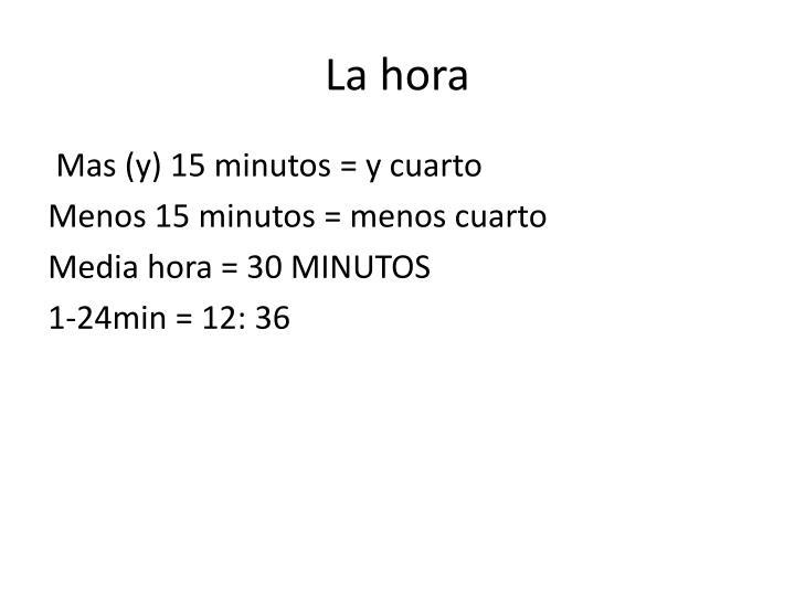 La hora