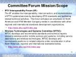 committee forum mission scope2
