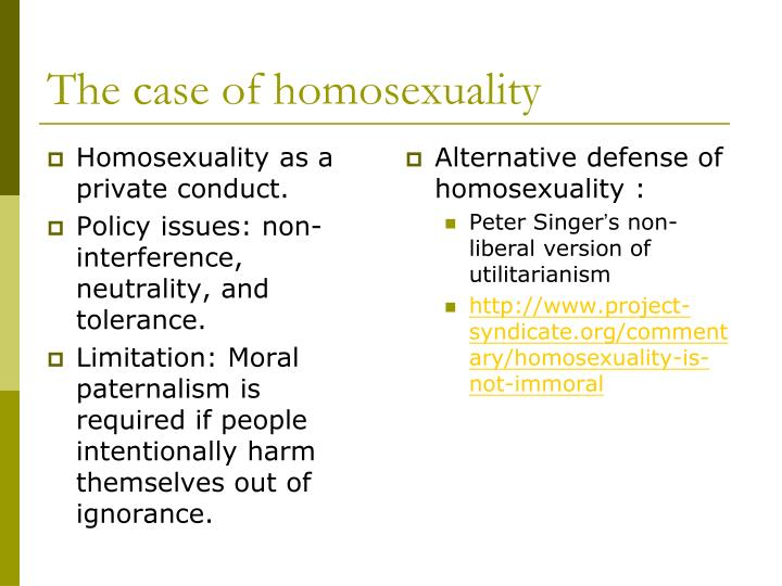 the morality of homosexuality