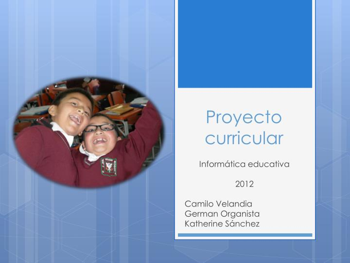 proyecto curricular n.