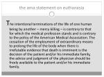 the ama statement on euthanasia