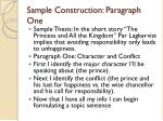 sample construction paragraph one