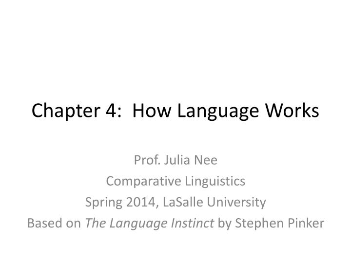 chapter 4 how language works n.