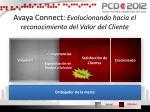 avaya connect evolucionando hacia el reconocimiento del valor del cliente