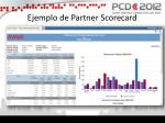 ejemplo de partner scorecard