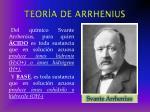 teor a de arrhenius