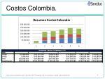 costos colombia
