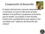 cooperaci n al desarrollo