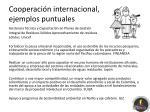 cooperaci n internacional ejemplos puntuales2