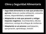 clima y seguridad alimentaria