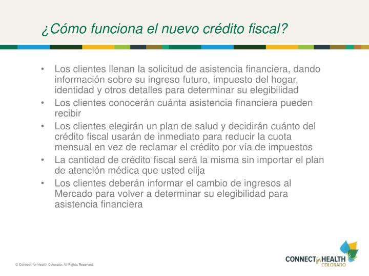 ¿Cómo funciona el nuevo crédito fiscal?