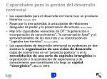 capacidades para la gesti n del desarrollo territorial1