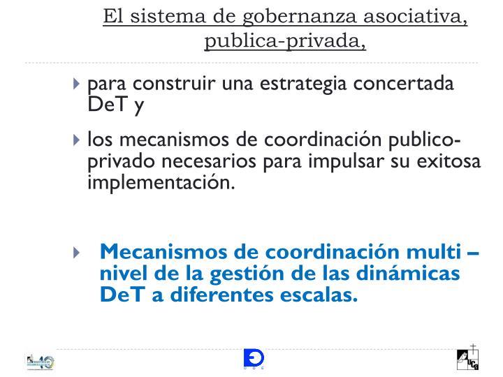 El sistema de gobernanza asociativa, publica-privada,