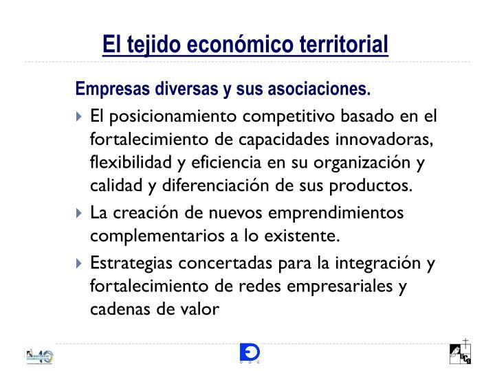 El tejido económico territorial