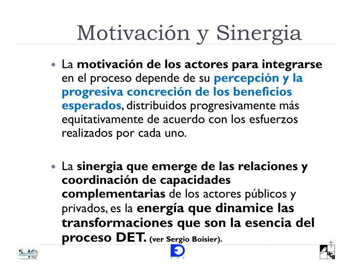 Motivación y Sinergia