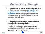 motivaci n y sinergia