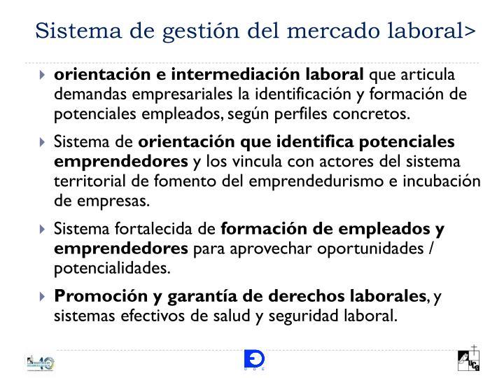 Sistema de gestión del mercado laboral>