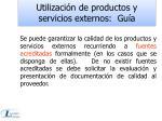 utilizaci n de productos y servicios externos gu a