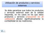 utilizaci n de productos y servicios externos