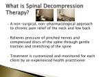 what is spinal decompression therapy