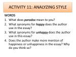 activity 11 analyzing style
