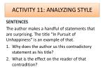 activity 11 analyzing style1