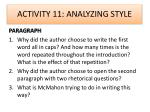 activity 11 analyzing style2