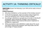 activity 14 thinking critically