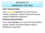 activity 17 annotate the text