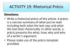 activity 19 rhetorical pr cis