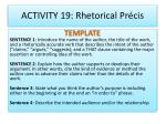 activity 19 rhetorical pr cis1