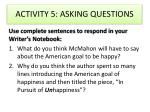 activity 5 asking questions