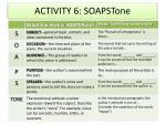 activity 6 soapstone