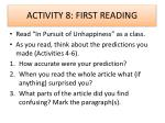 activity 8 first reading
