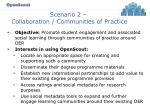 scenario 2 collaboration communities of practice