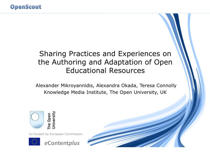 sharing practices and experiences on the authoring and adaptation of open educational resources n.