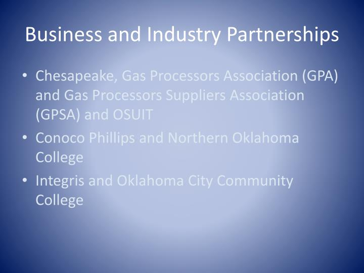 Business and Industry Partnerships