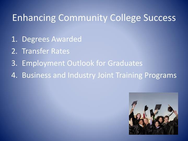 Enhancing community college success