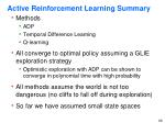 active reinforcement learning summary
