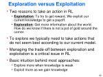 exploration versus exploitation