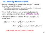 q learning model free rl