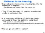 td based active learning