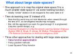 what about large state spaces