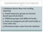 information about lit circles