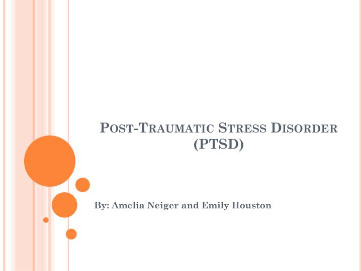 post traumatic stress disorder ptsd n.