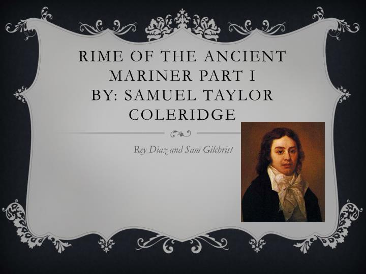 rime of the ancient mariner part i by samuel taylor coleridge n.