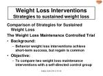 weight loss interventions strategies to sustained weight loss